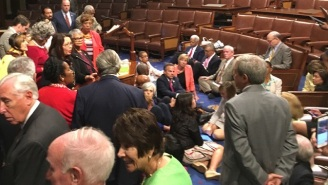 House Democrats Stage A Sit-In While Demanding A Gun-Control Vote: 'No Bill, No Break'