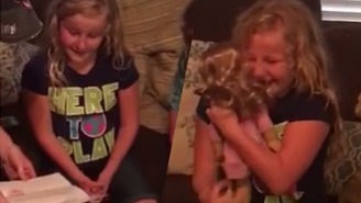 This Little Girl Receiving A Doll With A Prosthetic Leg Will Totally Make Your Day