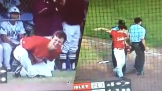 This Inspirational Baseball Player Dabbed After Fouling A Pitch Right Into His Own Balls