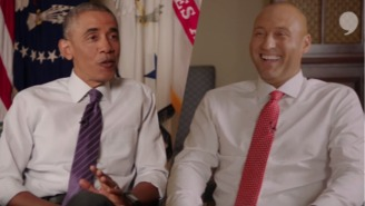 Watch President Obama Gleefully Laugh At Derek Jeter For Being Old