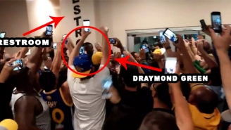 Draymond Green Got A Hero's Welcome After Emerging From The Bathroom At An Athletics' Game