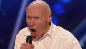 A Growling Grandpa Covered Drowning Pool's 'Bodies' On 'America's Got Talent'