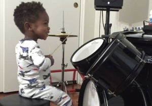 This Tyke On Drums Is As Talented As He Is Cute