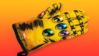 This Powerful Infinity Gauntlet Oven Mitt Can't Withstand A Pan Of Hot Pizza Rolls