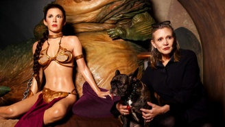 Carrie Fisher Took Some Unforgettable 'Before And After' Pics With Wax Leia And Her Gold Bikini