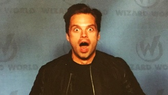 Nerd Romance Blooms As Sebastian Stan And His Amazing Reactions Visit Wizard World