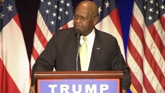 Watch Herman Cain Excitedly Claim 'Shucky Ducky' Donald Trump 'Is Not A Racist'