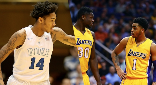 Brandon Ingram, Julius Randle, D'Angelo Russell