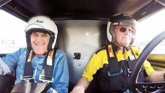 Jay Leno Survives Scary Race Track Crash On 'Jay Leno's Garage'