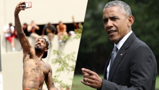 President Obama Implores Cleveland's Coach To Find J.R. Smith A Shirt