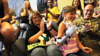 This Little Girl Got A Frozen-Themed Prosthetic Arm Thanks To Some Very Kind Souls