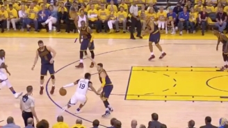 Leandro Barbosa Shook Matthew Dellavedova Something Fierce Before This Acrobatic Layup