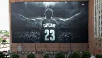 The LeBron James Banner Won't Come Down For The Republican Convention, After All
