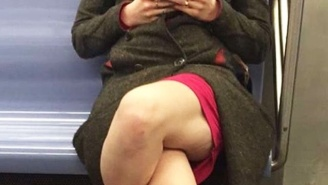 Nobody Knows What To Make Of The Way This Woman Sits On The Subway