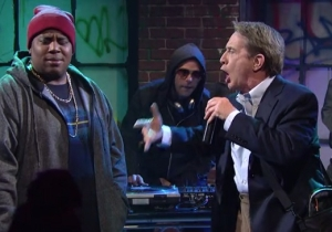 Nick Jonas Unwisely Brought His Dad To A Rap Battle In This 'Maya & Marty' Sketch
