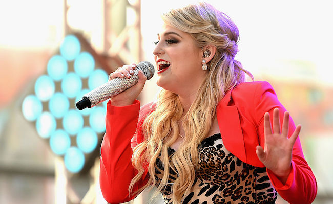 """NEW YORK, NY - MAY 22: Meghan Trainor performs on NBC's """"Today"""" at the NBC's TODAY Show on May 22, 2015 in New York, New York. (Photo by Dimitrios Kambouris/Getty Images)"""