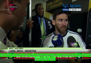A Frustrated Lionel Messi Announced A Shocking Retirement From Argentina's National Team
