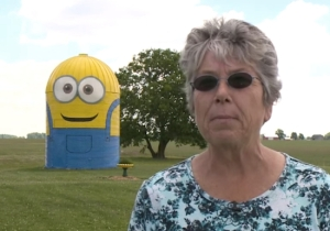 An Indiana Silo Has Been Given A 'Minions' Makeover And There's A Touching Reason Behind It