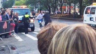 Don't Try To Cut Off The Presidential Motorcade On A Bicycle Or You'll End Up Like This Guy
