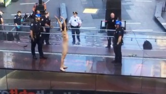 A Naked Guy On A Ledge Terrorized New York City's Times Square And The Whole Thing Was Caught On Video