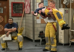 John Cena Plays a Sexy Fireman on 'Maya & Marty'
