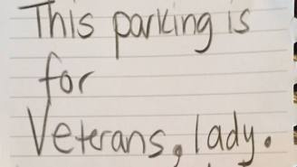 A Woman Dropped The Mic On A Sexist Who Didn't Believe She Deserved Veterans Parking