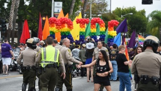 Police Arrest A Man With A Cache Of Guns Heading Towards The L.A. Pride Parade
