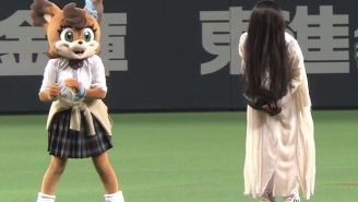 Japan Made Baseball Fun Again By Pitting 'The Ring' Girl Against 'The Grudge' Girl