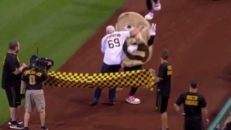 Watch Scott Steiner Attack A Pierogi Mascot At 'Legends Of Wrestling' Night In Pittsburgh