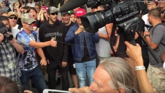 And Now We Have Trump Supporters Gleefully Attacking Protesters With Pepper Spray