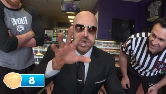 Cesaro Proves He's Also The King Of Shoving Donut Holes In His Face