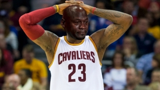 Some Genius Pulled The Ultimate 'Crying Jordan' Troll On The Cavaliers