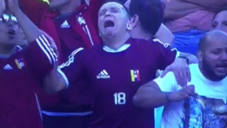 Watch The Moment This Venezuela Soccer Fan's Heart Rips In Half