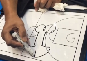 Andray Blatche And His Philippines Coach Enjoy A Bit Of Juvenile Humor With A Whiteboard