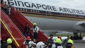 A Singapore Airlines Plane Has To Make An Emergency Landing After Catching Fire