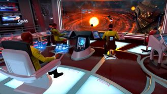 'Star Trek' Actors Try Out The New VR Game, 'Star Trek: Bridge Crew'