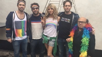 The Gang From 'It's Always Sunny In Philadelphia' Marched In The LA Pride Parade