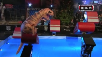 A T-Rex Competed On 'American Ninja Warrior,' And It's As Amazing As You'd Imagine
