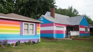 LGBT Rights Group Fights Westboro Baptist Church By Creating A House Painted Like Transgender Pride Flag