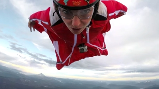 This Woman Takes Her Wingsuits Over An Active Volcano Without Breaking A Sweat