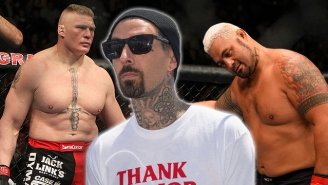 Travis Barker Will Get A TMZ Tattoo If Mark Hunt Loses To Brock Lesnar At UFC 200