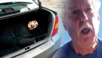 A Sneaky Son Gives His Dad A Terrifying Birthday Surprise By Hiding In A Car Trunk