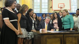 The NYC Mayor Signs Free Tampons For Schools, Prisons, And Shelters Into Law