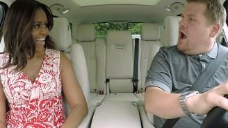 Michelle Obama and Missy Elliott join James Corden for 'Carpool Karaoke'
