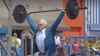 Watch This 'Old Man' Stun The Jacked-Up Bodybuilders At Muscle Beach With His Amazing Feats Of Strength