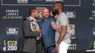 Jon Jones And Daniel Cormier Jaw At One Another During A Contentious UFC 200 Faceoff