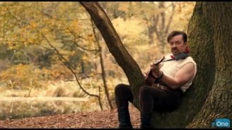 Ricky Gervais' New Music Video For 'David Brent: Life On The Road' Is Delightful