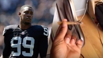 Aldon Smith Appears To Have Posted A Video Of Himself Smoking A Blunt During A 'Fire Up Session'