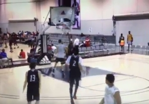 A Top High School Recruit Destroyed A Backboard During An AAU Tourney