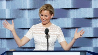 Elizabeth Banks Compares Donald Trump To Her 'Hunger Games' Character At The DNC